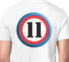 11, Eleven, Eleventh, ROUNDEL, TEAM SPORTS, NUMBER 11, Competition Unisex T-Shirt