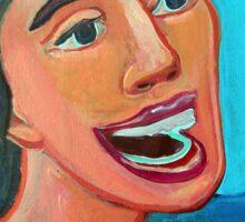 Chica en la playa 2 by Diego Manuel Sticker