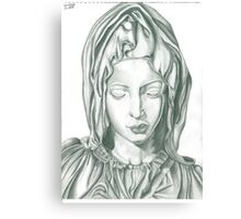 Mother Mary statue design Canvas Print