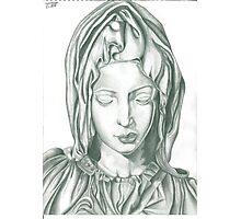 Mother Mary statue design Photographic Print