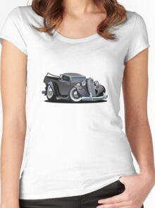 Cartoon retro pickup Women's Fitted Scoop T-Shirt