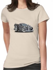 Cartoon retro pickup Womens Fitted T-Shirt