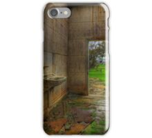 View From a Dilapidated Bathroom out to a Farm iPhone Case/Skin