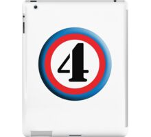 4, FOUR, ROUNDEL, NUMBER 4, FOURTH, TEAM SPORTS, Competition, iPad Case/Skin