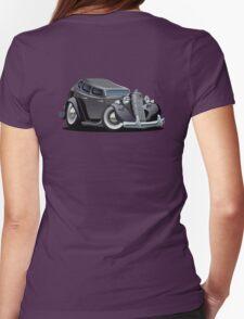 Cartoon retro car Womens Fitted T-Shirt