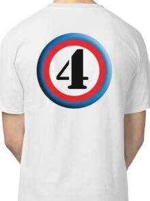 4, FOUR, ROUNDEL, NUMBER 4, FOURTH, TEAM SPORTS, Competition, Classic T-Shirt