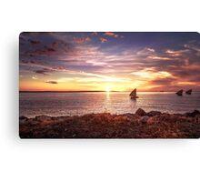 Beauté du coucher de soleil à Madagascar Canvas Print
