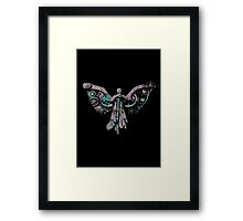 Colourful Clockwork Angel Framed Print