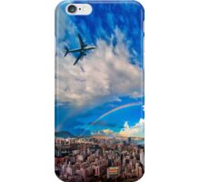 Hong Kong Double Rainbow and Airplane  iPhone Case/Skin