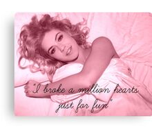Marina And The Diamonds Quote Canvas Print