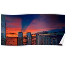 Hong Kong Union Square Sunset  Poster