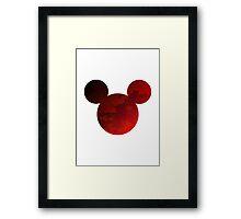 Mouse Head Inspired Silhouette Framed Print