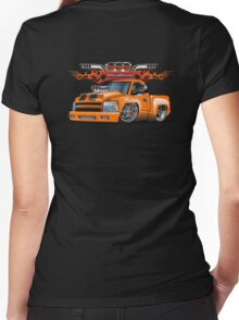 Cartoon lowrider Women's Fitted V-Neck T-Shirt