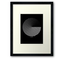 Stripes can be in a disc Framed Print