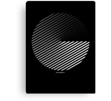 Stripes can be in a disc Canvas Print