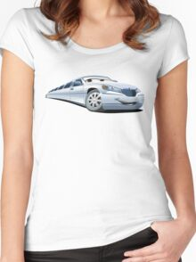 Cartoon Limo Women's Fitted Scoop T-Shirt