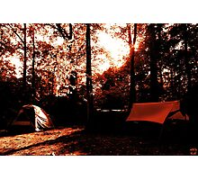 Campsite Photographic Print