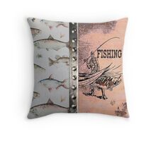 Fishing Throw Pillow