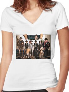 ONE PIECE #01 Women's Fitted V-Neck T-Shirt