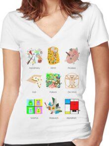 Art Lesson Women's Fitted V-Neck T-Shirt