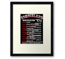 This tall to ride Zombieland - White Framed Print