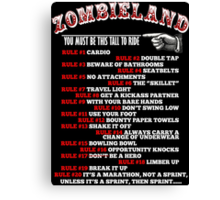 This tall to ride Zombieland - White Canvas Print