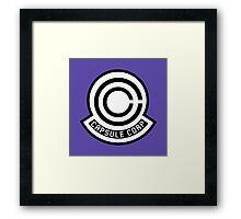 Capsule Corporation Framed Print