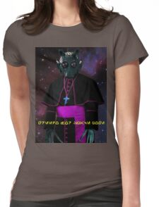 Space Pope Womens Fitted T-Shirt