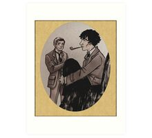 Victorian Sherlock and John Art Print