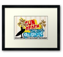Sun Beach Framed Print