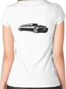 Cartoon limousine Women's Fitted Scoop T-Shirt