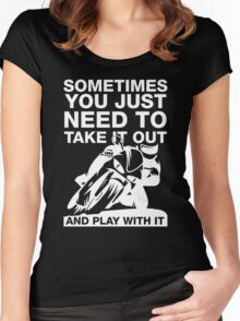 Take It Out And Play With It, Sport Bike Tee Shirt Women's Fitted Scoop T-Shirt