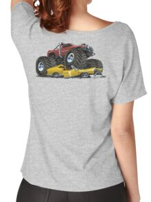 Cartoon monster truck Women's Relaxed Fit T-Shirt