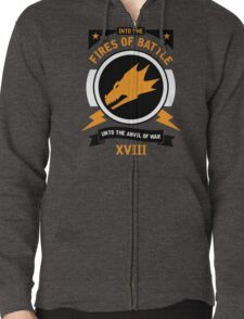 Into the Fires of Battle - Salamanders Zipped Hoodie