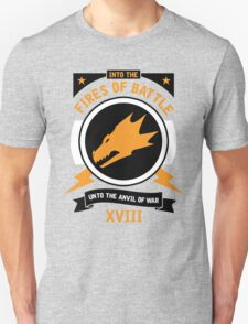 Into the Fires of Battle - Salamanders Unisex T-Shirt