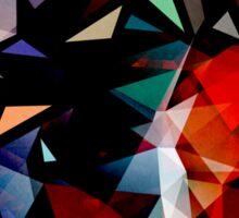 Triangles In Transition Sticker