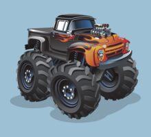 Cartoon monster truck One Piece - Short Sleeve