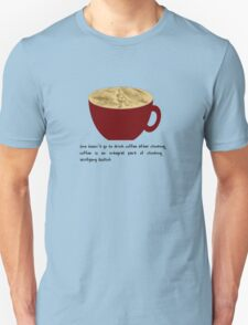Coffee is integral to climbing Unisex T-Shirt