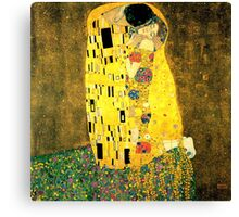 The Kiss by Gustav Klimt Fine Art  Canvas Print