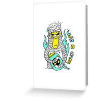 Evil genius monkey Greeting Card
