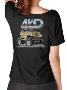 Cartoon Jeep Wrangler Women's Relaxed Fit T-Shirt