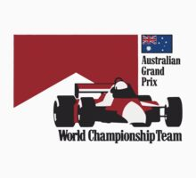 80´s MCLAREN WORLD CHAMPIONSHIP TEAM - AUSTRALIAN GRAND PRIX  Kids Tee