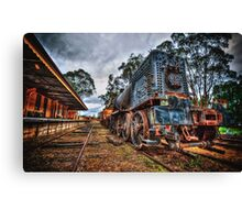 Blue bullet  Canvas Print