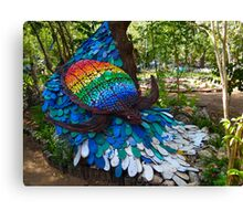 art with recycling - turtle Canvas Print