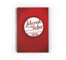 PSS: Pioneer Service School - Jehovah is My Helper (Retro Red) Spiral Notebook