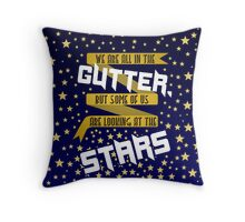 Looking at the stars Throw Pillow