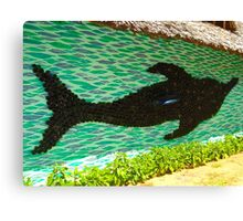 art with recycling - dolphin from bottles 1 Canvas Print