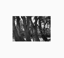 Line of trees black and white Unisex T-Shirt