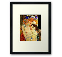 Mother and Child by Gustav Klimt Art Nouveau Framed Print