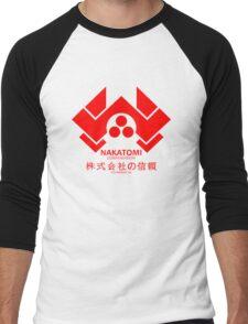 NAKATOMI PLAZA - DIE HARD BRUCE WILLIS (RED) Men's Baseball ¾ T-Shirt